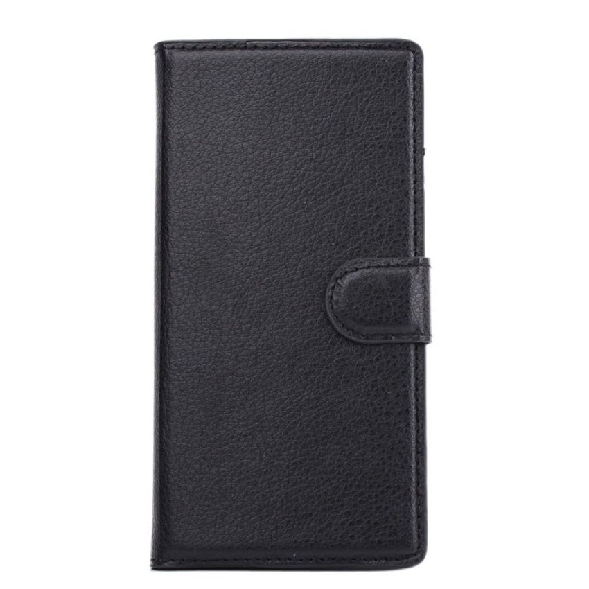 Magnetic Flip Leather Wallet Case Holder Cover Stand For Nokia X Black