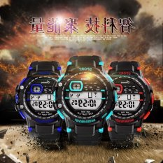 Male Student Electronic Table Waterproof Outdoor Sports Luminous Multifunctional Electronic Watches For Men (Intl)