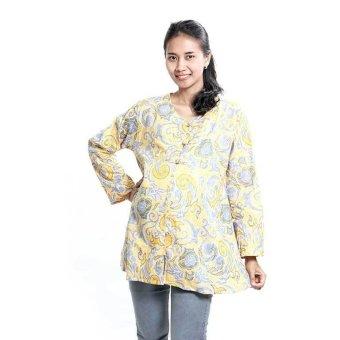 Mama Hamil Baju Hamil Batik Muslim Pastel Kuning