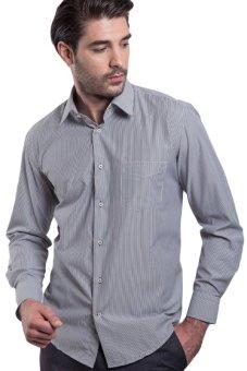Manly Regular Fit Striped Shirt - Hitam