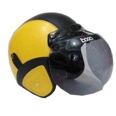 Matrix Helm - Helm Bogo Retro Kuning Hitam