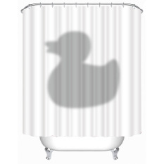 MC Hot Sale 3D Waterproof Polyester Shower Curtain Duck Shadow Pattern With 12 Plastic Hooks Curtains For Bath And Shower (180*200cm) - Intl