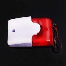 MEGA Mini 12V Wired Sound Alarm Strobe Flashing Light Siren Home Security System (Intl)