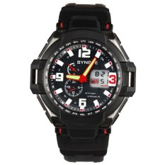 Men Waterproof Double Digital Quartz LED Sports Watch Red Free Shipping