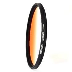 MENGS 82mm Graduated ORANGE Lens Filter with Aluminum Frame For Canon Nikon Sony Fuji Pentax Olympus Etc Digital Camera