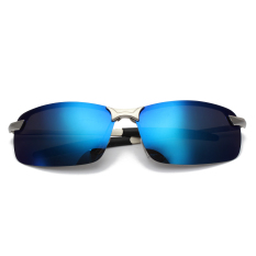 Men's Fashion Polarized Driving Sunglasses Anti-Glare Outdoor Sports UV Glasses Ice Blue