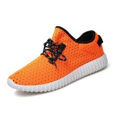 Men's Fly Woven Coconut Breathable Shoes Hole Hole Shoes Lq520d2 - Intl