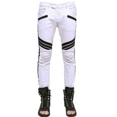 Mens Skinny Washed White Jeans (Intl)