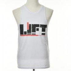 Men's Sports Muscle Bodybuilding Gym Tank Tops Cotton Tight Sleeveless Vest White- Intl