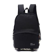 Men's Vintage Canvas Backpack Rucksack Laptop Shoulder Bag Travel Camping Bag Geometric (Intl)