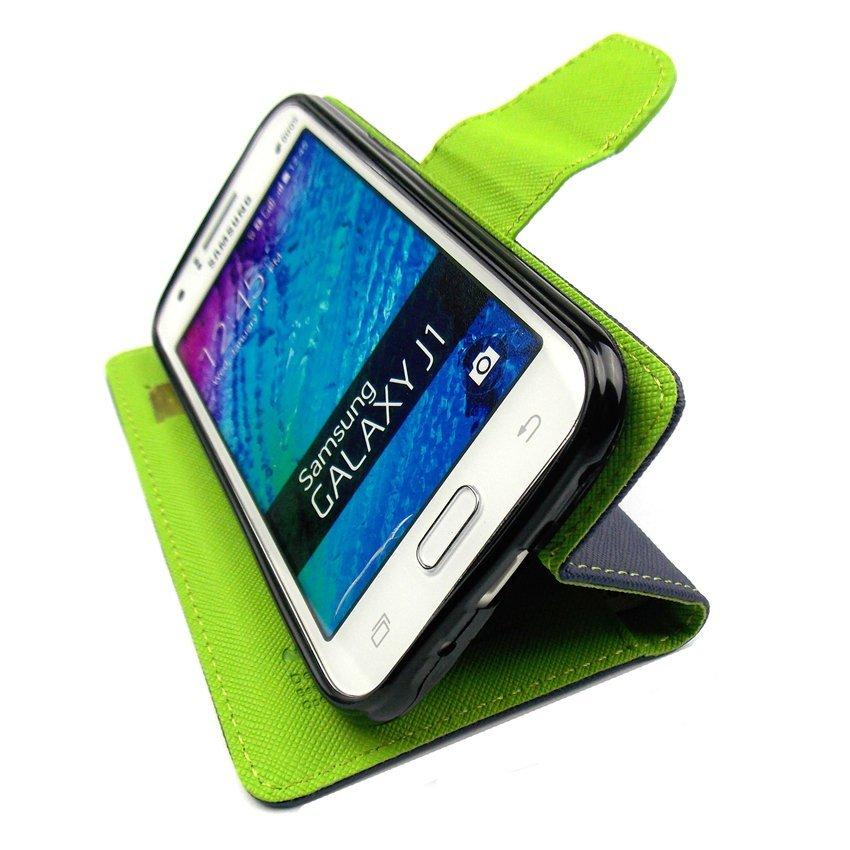 Mercury Goospery Fancy Diary Case Flip Cover Casing for Asus Zenfone 5 - Biru Dongker