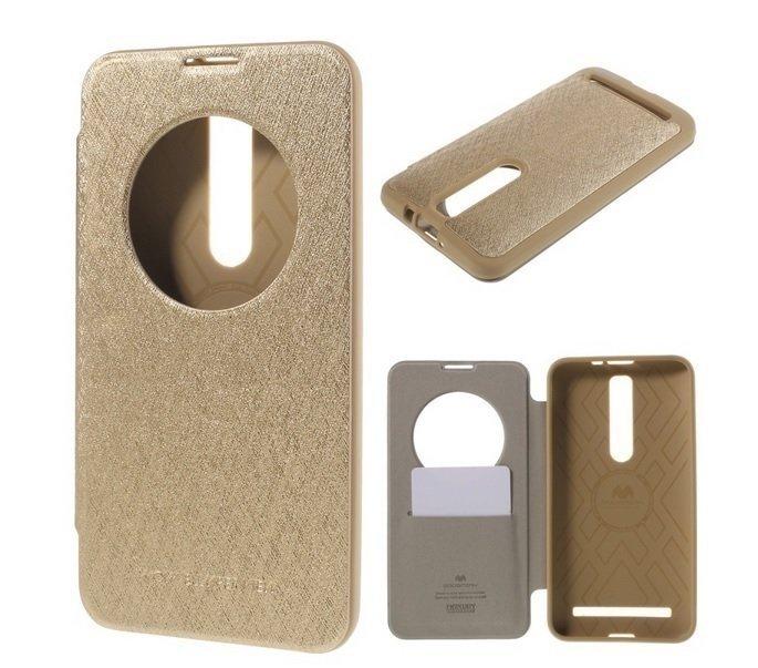 Mercury Goospery Wow Bumper View Case Asus Zenfone 2 ZE551ML - Gold