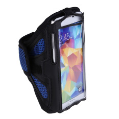 Mesh Armband Case Running Gym Sports Cover For Samsung S5 I9600 Dark Blue