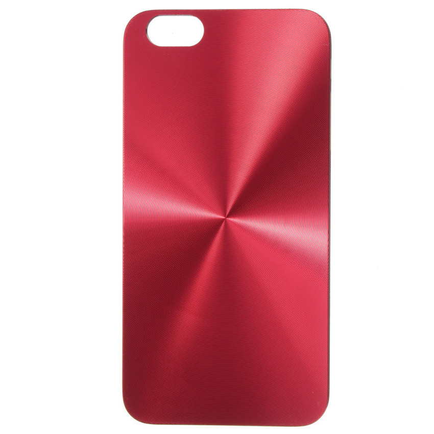 Metal CD Pattern Hard Slim Back Case Skin for iPhone 6 Plus 5.5'' (Red) (Intl)