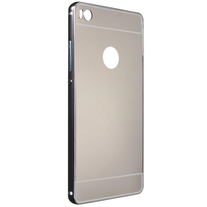 Metal Frame PC Mirror Hard Back Case for Huawei Ascend P8/P8 Lite (Grey) (Intl)