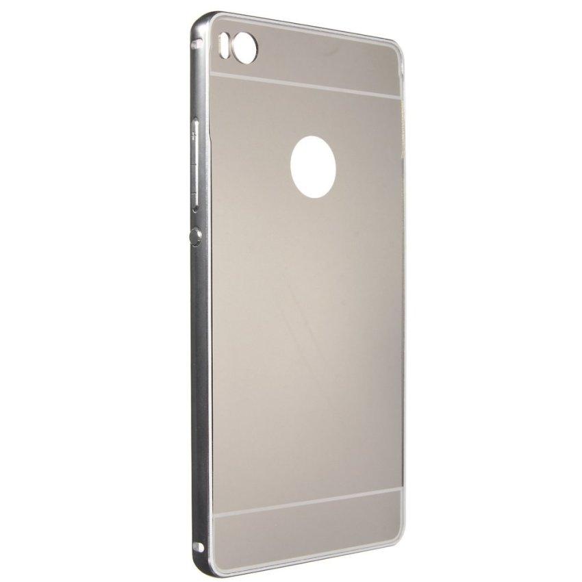 Metallo Frame PC Mirror Hard Back Cover Custodia Per Huawei Ascend P8/P8 Lite Silver (Intl)
