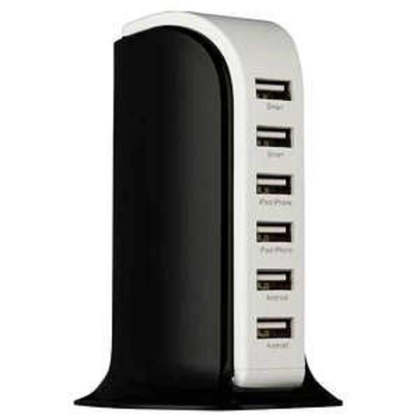 Metrans Energy Series 6 Ports USB Charger - Hitam