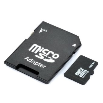 Micro Sd And TF Card With Sd Card Adapter Class 6 8Gb (Intl)
