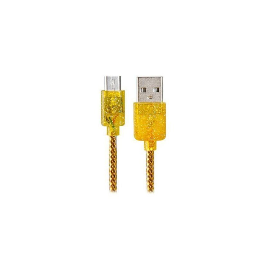 Micro USB to USB 2.0 Charging Data Cable with FragranceGolden