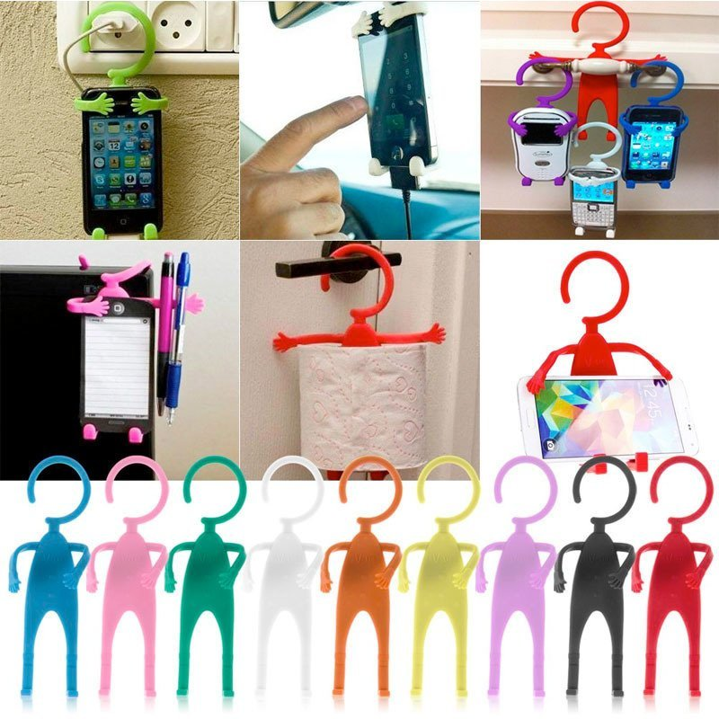 Miibox  Human Shape Flexible Smartphone Holder - Pink