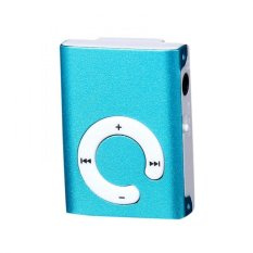 Mini Clip Metal USB MP3 Player Support Micro SD TF Card Music Media Blue Free Shipping