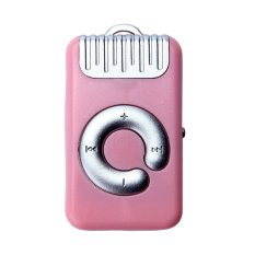 Mini Clip Metal USB MP3 Player Support Micro SD TF Card Music Media (Pink)
