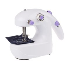 Mini Electric Sewing Machine Hand Held Single Sewing Tool Home Supplier (White)