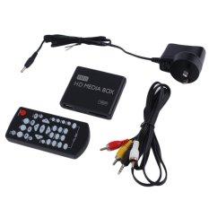 Mini Full 1080p HD Media Player Box MPEG / MKV / H.264 HDMI AV USB + Remote Black (Intl)