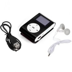 Mini USB Clip MP3 Player LCD Screen Support 32GB Micro SD TF Card Black Free Shipping