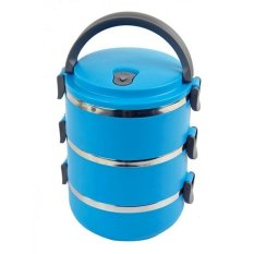Misson Eco Lunch Box Stainless Steel Rantang 3 Susun - Biru