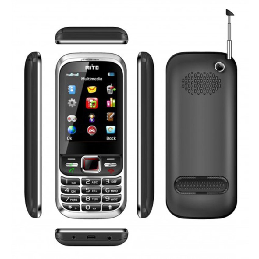 Mito 390 - Dual SIM - TV analog - Touchscreen - Hitam