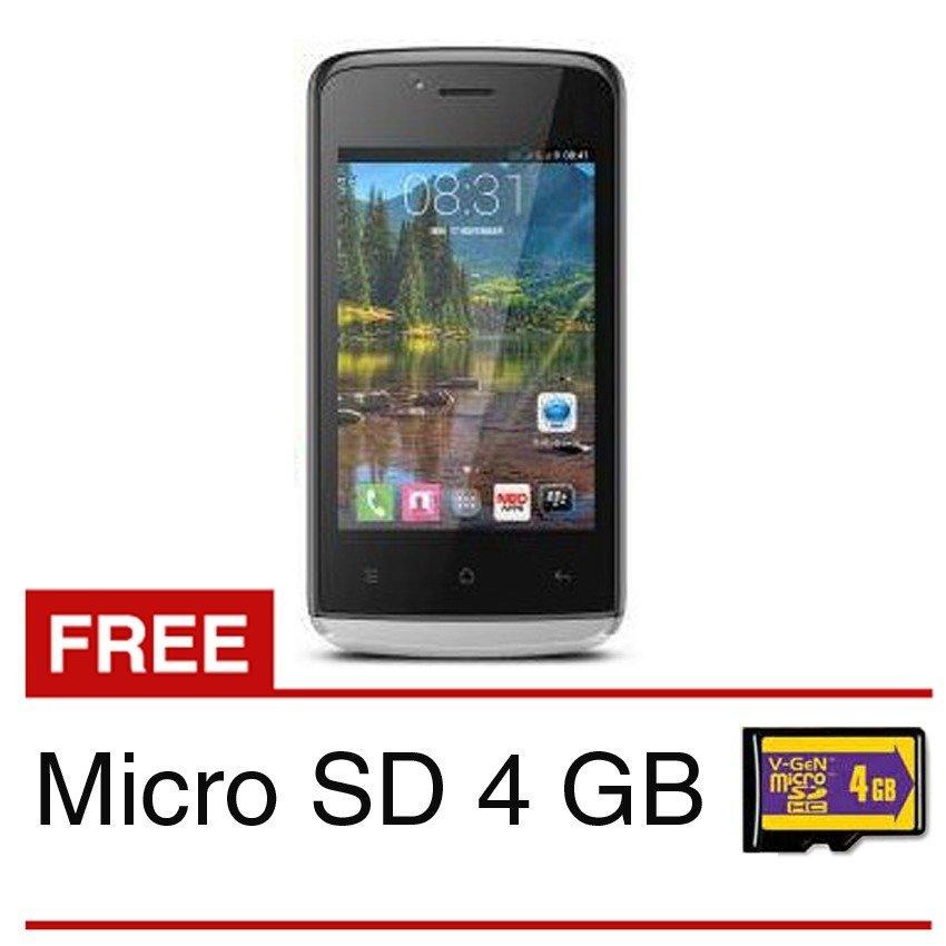 Mito A660 Fantasy Lite - 512MB - Hitam + Gratis Micro SD 4 GB
