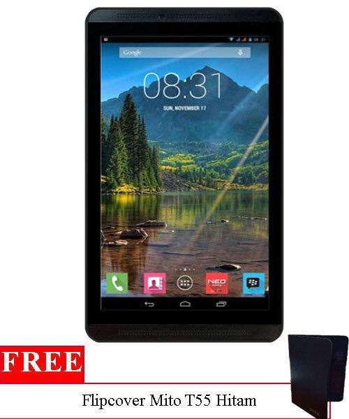 """Mito T55 tablet 7"""" - 8GB - Hitam + Gratis Flipcover"""