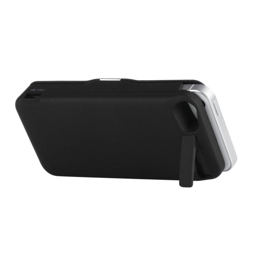 Moonar 4200mAh External Battery Power Bank Charger Flip Case Cover iPhone SE / 5S / 5 Black