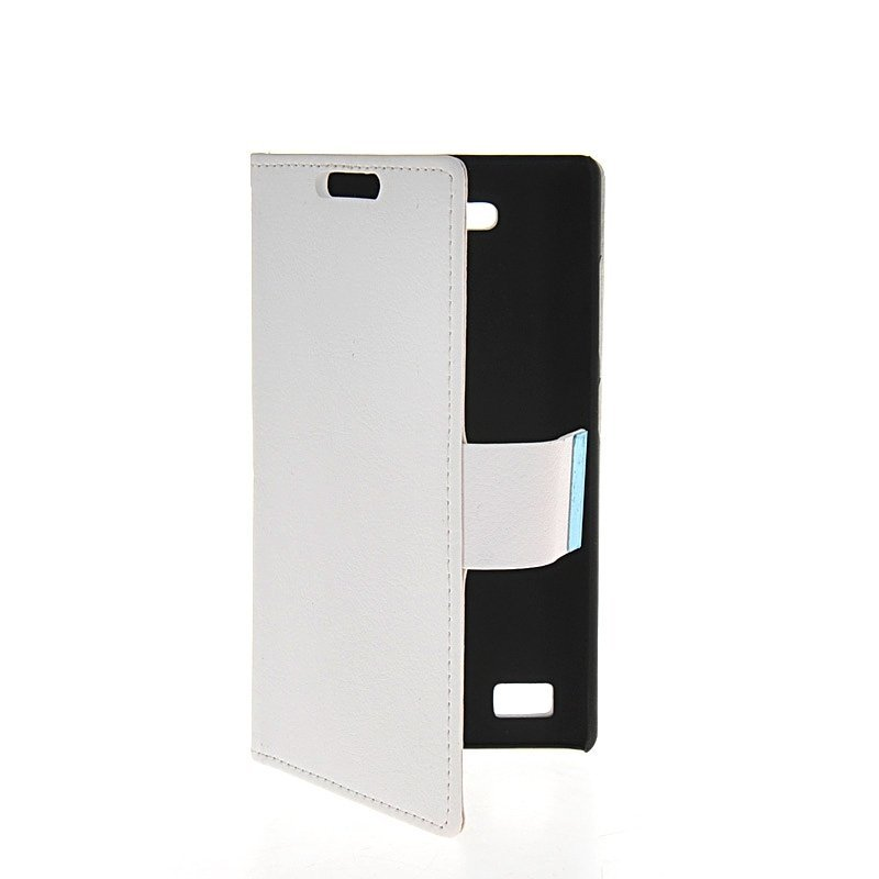 MOONCASE Flip Leather Wallet Stand Case Cover for Huawei Honor 3C White