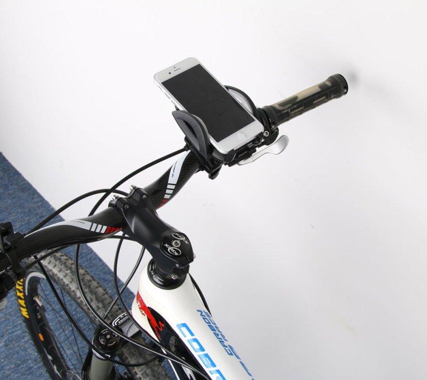 Moonmini Case for Apple iPhone 4G/5G/6 Samsung Galaxy S3 4 5 Note 1 2 3 (Black) Universal Adjustable 360 Degrees Rotating Mountain Bike Motorcycle Handlebar Mount Holder Cradle