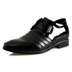 MP118152.2.36 Inches Taller-Genuine Leather Men High Heel Shoes Derby Formal Business Wedding Shoes Color Black (Intl)