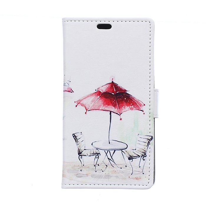 MSK Pattern Series Flip Leather Wallet Card Holder Pouch Stand Back Case Cover for Sony Xperia E4