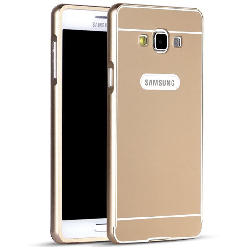 Msvii Metal Frame With Back Case for Samsung Galaxy E7/E7000 (Golden)