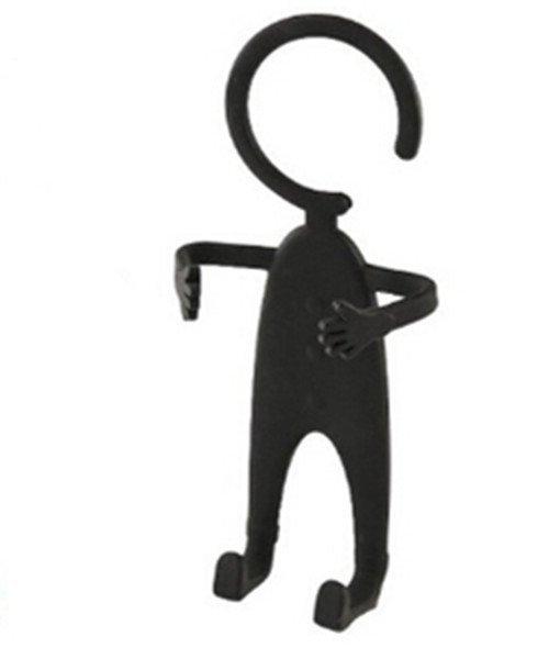 Multifunctional Unique Man Shape Design Flexible Lazy Car Phone Holder Keys Wallet Holder for iPhone Samsung Smartphones Black (Intl)