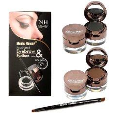 Music Flower - Pensil Alis 24hour Waterproof 2in1 Eyebrow & Eyeliner 4in1