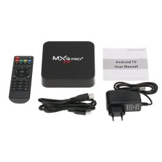 MXQ Pro + Smart Android TV Box Android 5.1 Lollipop S905 Quad Core XBMC UHD 4.2G / 16G Mini PC 2.4G / 5G WiFi 1000M LAN Miracast HD Media Player EU Plug - Intl