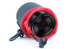 NEOPine Elastic Neoprene Lens Pouch Storage Protective Barrel Case Bag For Sony QX10 Lens (Black)