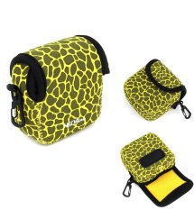 NEOPine Original Deer Pattern Neoprene Soft Camera Case Bag For Gopro HERO3 HERO3 + HERO4 Sport Action Camera Camera Protective Pouch Cover (Yellow)