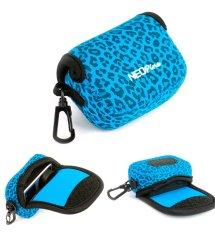 NEOPine Original Leopard Pattern Neoprene Soft Camera Case Bag For Gopro HERO3 HERO3 + HERO4 Sport Action Camera Protective Pouch Cover (Blue)