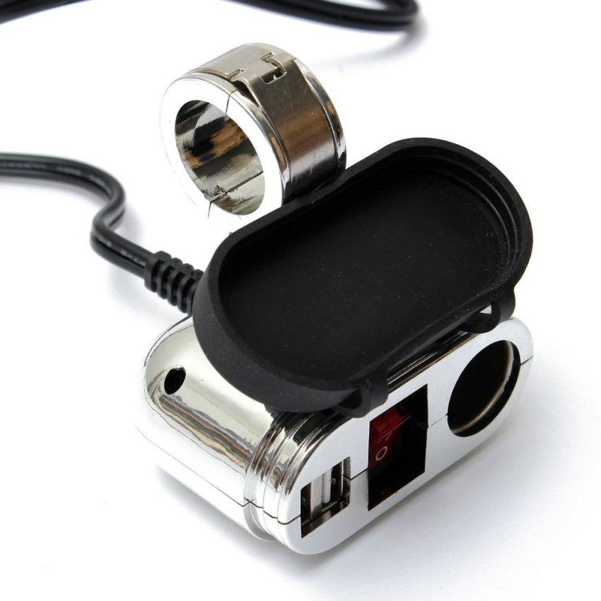 New 12-24V 120W Dual USB Socket Mount Car Cigarette Lighter Charger Adapter 5V 3.1A (Intl)