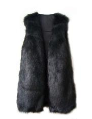 New Chic Lady Faux Fur Vest Winter Warm Coat Outwear Long Hair Jacket Waistcoat