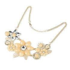 New Fashion Womens Ladies Pink Flower Choker Bib Statement Necklace Collar Chain Pendant Nice Gift