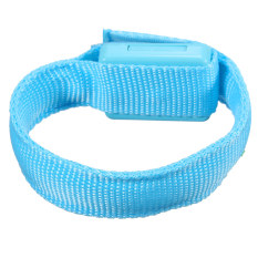NEW Flashing Gear Glowing LED Wrist Band Lights Flash Nylon Cuff Party Bracelet Blue