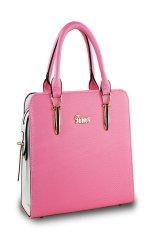 New Women Handbag Shoulder Bags Tote Purse Leather Ladies Messenger Hobo Bag Deep Pink